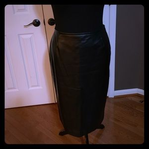 Faux Leather Tahari skirt, Size 12